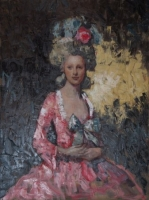 Pink Lady - Reference from Roslin's Portrait