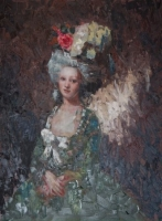Green Lady - Reference from Roslin's Portrait