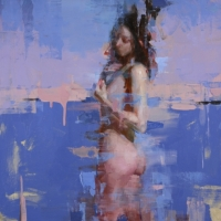 Nude with Blue and Pink