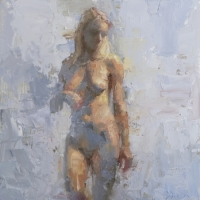 Standing Nude with Impasto