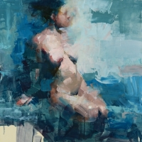 Nude in Turquoise