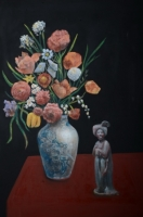 Mixed Flower with A Clay Lady
